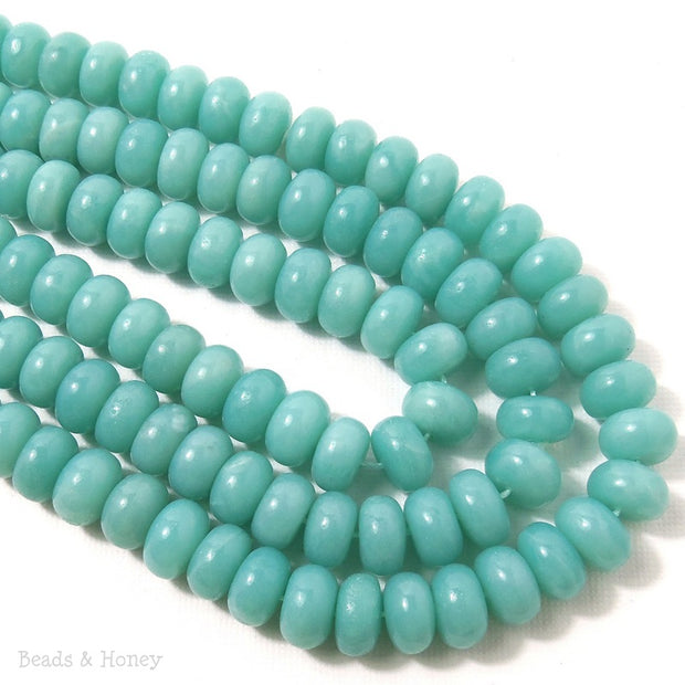 Amazonite Rondelle Smooth 10mm (Half Strand, Qty Pricing)