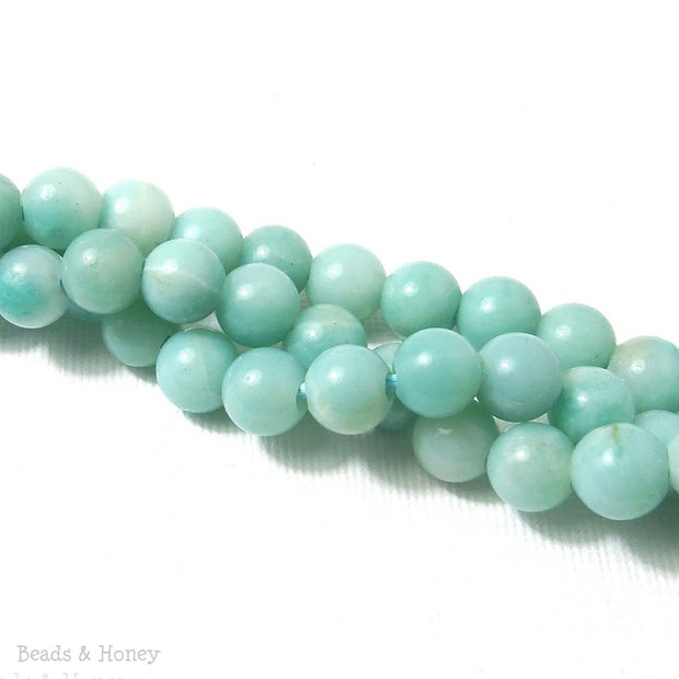 Dakota Stones Amazonite Large Hole Bead Round 8mm (8 Inch Strand)