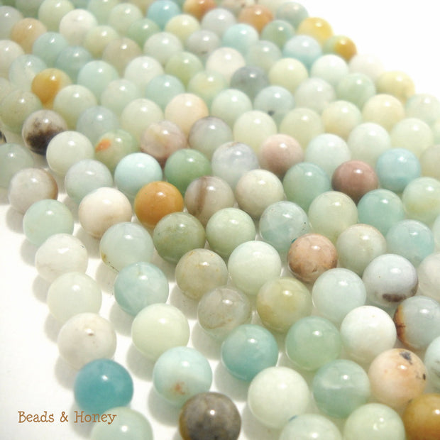 Black Gold Amazonite Multi Color Round 6mm (15-Inch Strand)