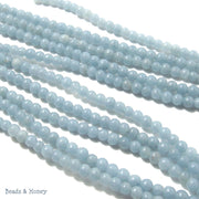 Angelite Round Smooth 4mm (Half Strand)
