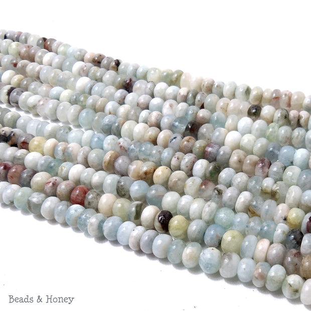 Aquamarine Multi Colored Rondelle 7-8mm (Full Strand)