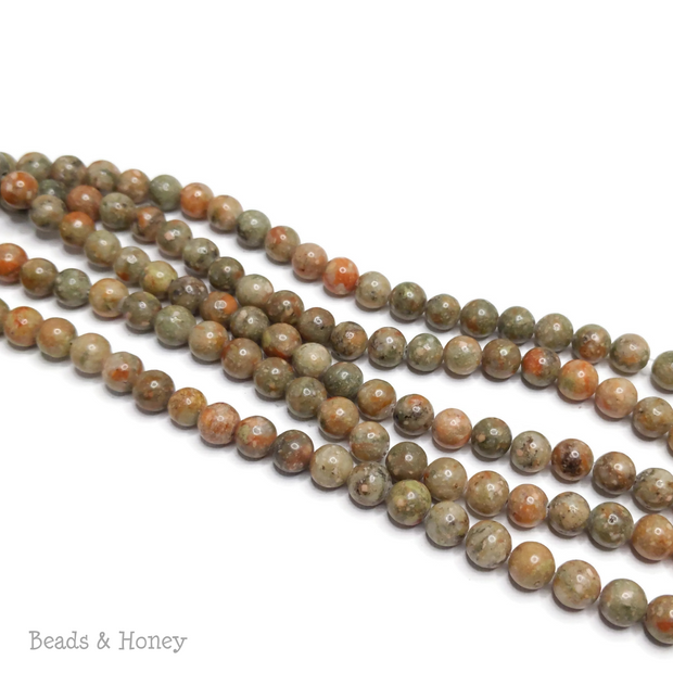 Autumn Jasper/Mayflower Jasper Round 8mm (16-Inch Strand)