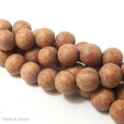 Unfinished Bayong Wood Round 14mm-15mm (16-Inch Strand)