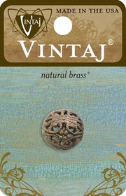 Vintaj Round Filigree Bead 14mm BD110 (1pc)