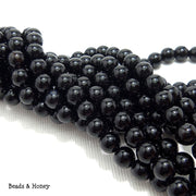 Black Onyx Round Smooth 6mm (Full Strand)