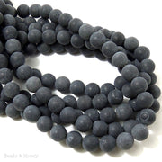 Blackstone Matte Round Smooth 8mm (Full Strand)