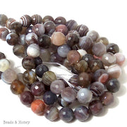 Botswana Agate Round Faceted 10mm (Full Strand)