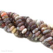 Botswana Agate Rondelle Smooth 8mm (Half Strand)