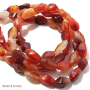 Carnelian Twist 13x7mm (Full Strand)