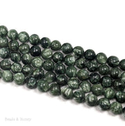 Seraphinite Round Smooth 8mm (15-Inch Strand)