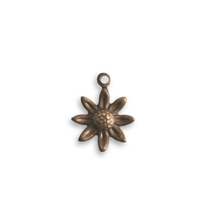 Vintaj Teensie Sunflower Charm 11mm (6pcs)