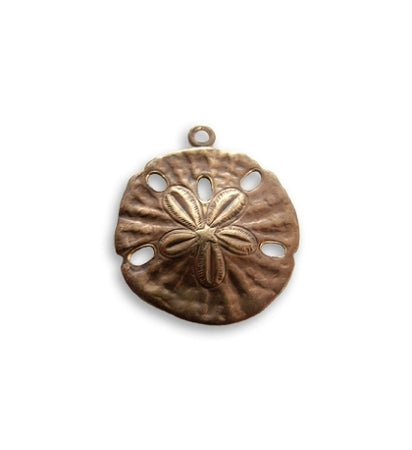 Vintaj Sand Dollar Charm 18x16mm (3pcs)