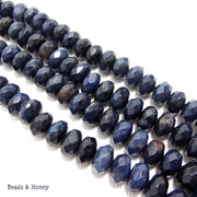 Dumortierite Rondelle Faceted 8mm (Half Strand)