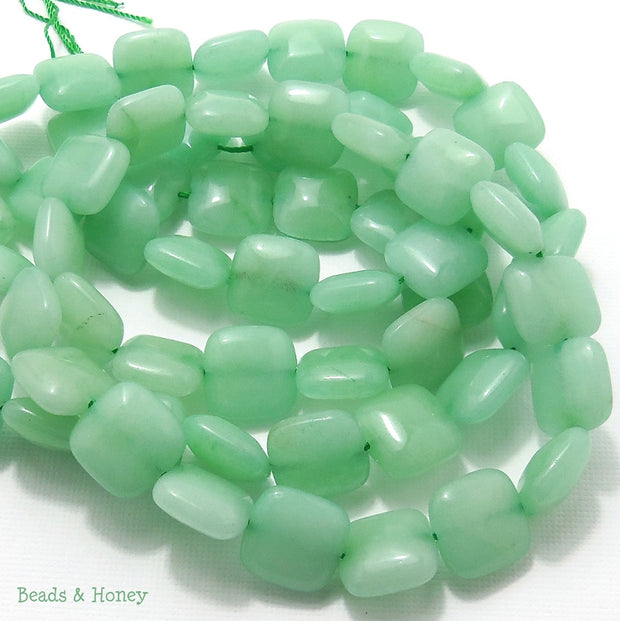 Dyed Jade Mint Green Square Puffed 12mm (Full Strand)