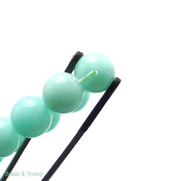 Dyed Jade Mint Green Round Smooth 12mm (Full Strand)