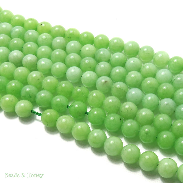 Apple Green Dyed Jade Round 8mm (Full Strand)