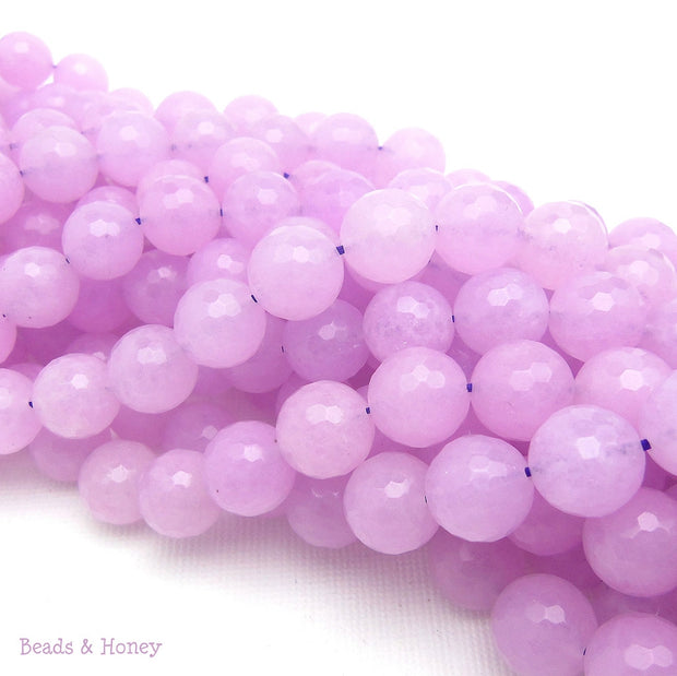 Lavender Dyed Jade Round Faceted 10mm (Full Strand)
