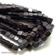 Ebony Wood Dark Prime Cut Cube 10mm (Full Strand)