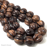 Ebony Wood Carved Ball 20mm (10pcs)