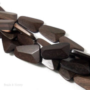 Tiger Ebony Wood Trapezoid 15x24mm (10pcs)