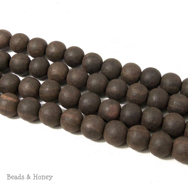 Unfinished Ebony Wood Beads Round 10mm  (16 Inch Strand)