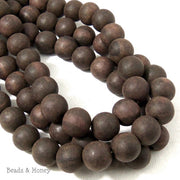 Unfinished Ebony Wood Beads Round 12mm  (16 Inch Strand)