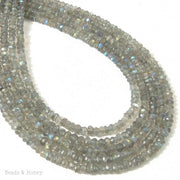 Labradorite Bead Rondelle Faceted 3-4mm (13 Inch Strand)