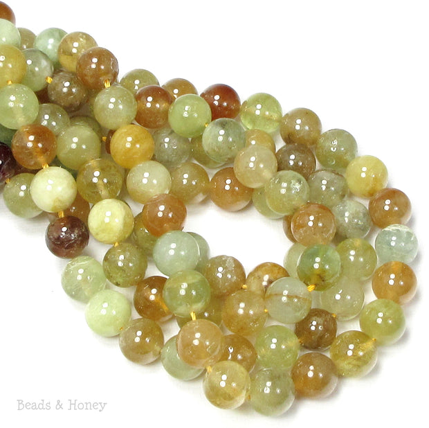 Rutilated Quartz Beads Rainbow Round 10mm (16-Inch Strand)