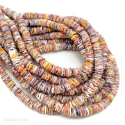 Pecten Shell Bead Multicolored Heishi 6mm (16-Inch Strand)