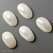 Silver Mouth Shell Cabochon Large 50x30mm (1pc)