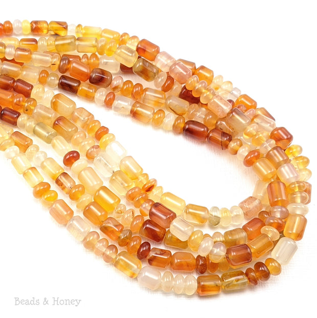 Madagascar Carnelian Beads Barrel/Rondelle Mix 4mm - 6mm (18-Inch Strand)