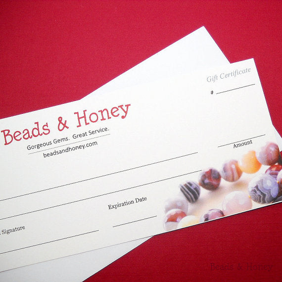 Beads & Honey Gift Certificate