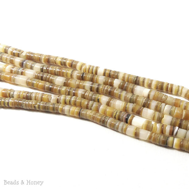 Gold Lip Shell Heishi 4-5mm (24 Inch Strand)