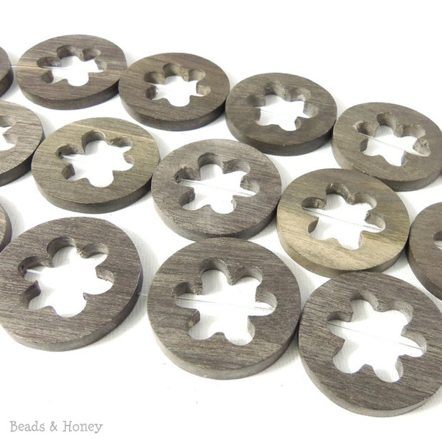 Graywood Flat Coin with Flower Cut Out (5pcs)
