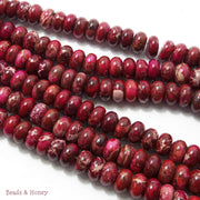 Impression Stone Dark Red Rondelle 10mm (Full Strand)