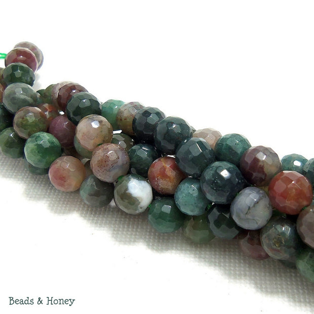Indian Agate Round Faceted 6mm (Full Strand)