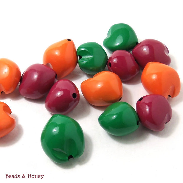 Kukui Nut Mix Red Orange Green 22-25mm (9pcs)