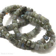Labradorite Triangle 8mm (Half Strand)