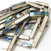 Mactan Stone Inlaid Abalone Shell Bar Long 10x35mm (1pc)