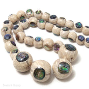 Mactan Stone Inlaid Abalone Shell Round Graduated 10-20mm