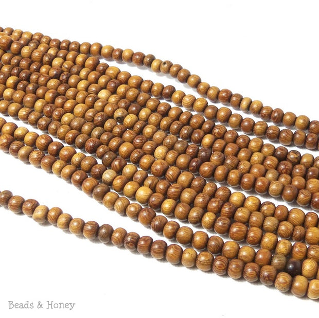 Madre de Cacao Light Wood Round 4-5mm (Full Strand)