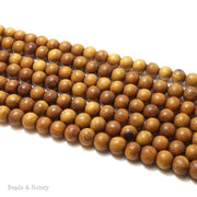 Madre de Cacao Wood Light Round 8mm (Full Strand)