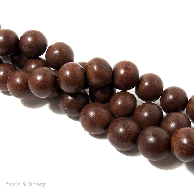 Madre de Cacao Wood Dark Round 14-15mm (Full Strand)