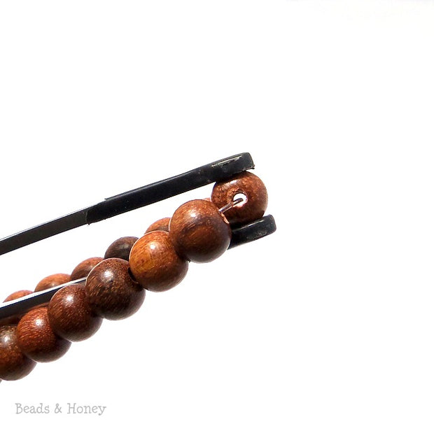 Magkuno Wood Bead Light Round 6mm (16-Inch Strand)