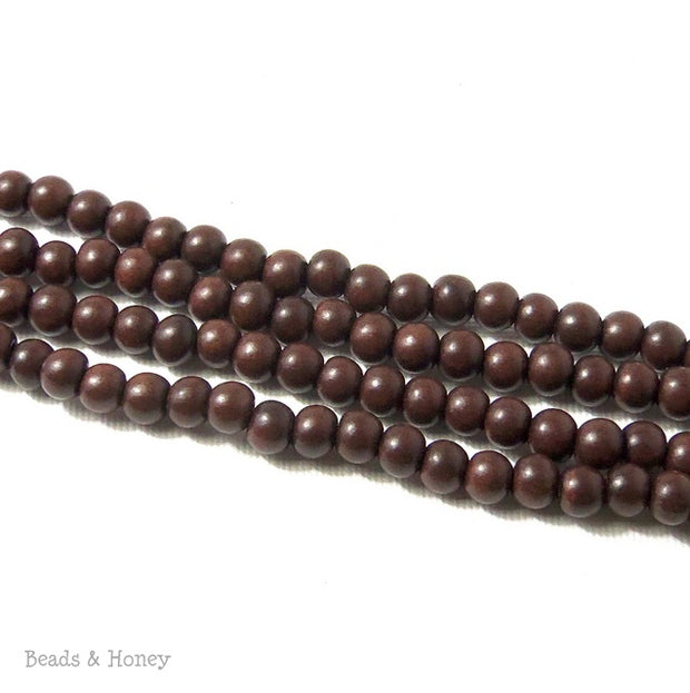 Magkuno Wood Very Dark Round 6-7mm (16 Inch Strand)