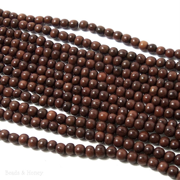 Magkuno Wood Round 4-5mm (16 Inch Strand)