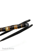 Mixed Black and Brown Pen Shell Heishi 4-5mm (24-Inch Strand)