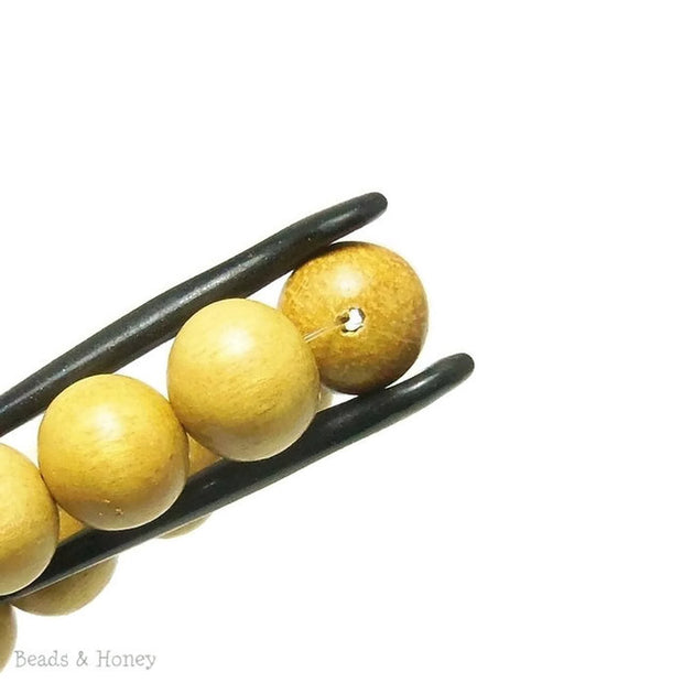 Nangka Wood Light Round 12mm (16 Inch Strand)