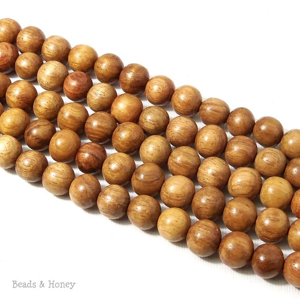 Narra Wood Light Round 10mm (Full Strand)