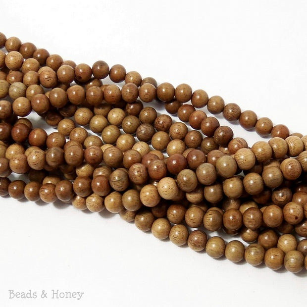Narra Wood Round 8mm (Full Strand)
